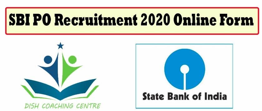 SBI PO Recruitment 2020 Online Form