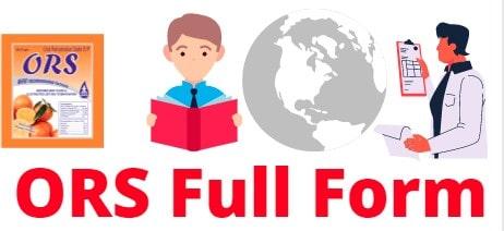 ORS Full Form