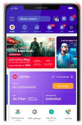 My Jio App पर Jio बैलेंस और वैलिडिटी कैसे चेक करें